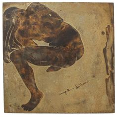 Laverne Bronze Wall Plaque of a Nude