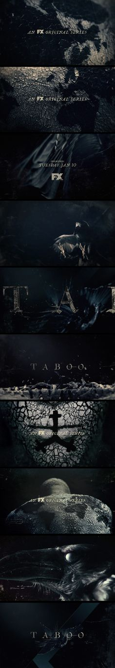motion graphics/ storyboards/ styleframes | Echolab ~ FX Network Promos: Taboo - - cherryhill