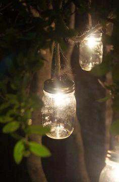 Mason Jar Lights for backyard parties