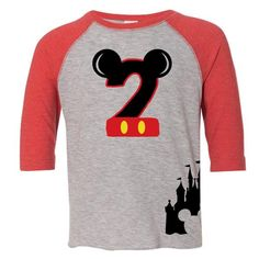 Age Memory Mickey Mouse Birthday Custom Raglan Toddler Shirt With Name On Back