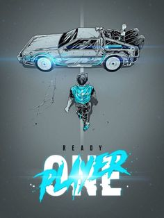 Ready Player One × Akira mashup Geeks, Akira Poster, Poster Print, Best Movie Posters, Ready Player One, Alternative Movie Posters, Film Serie, Back To The Future, Cultura Pop