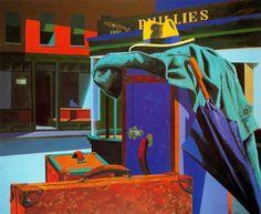 Eduardo Úrculo - 11 Nightawks, homenaje a Edward Hopper. 1990.jpg