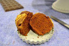 Muffins de chocolate com manteiga de amendoim