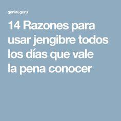 14Razones para usar jengibre todos los días que vale lapena conocer