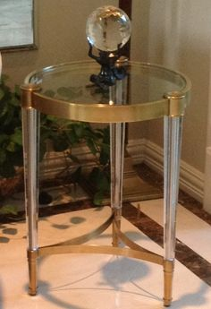 Crystal table reflects the light
