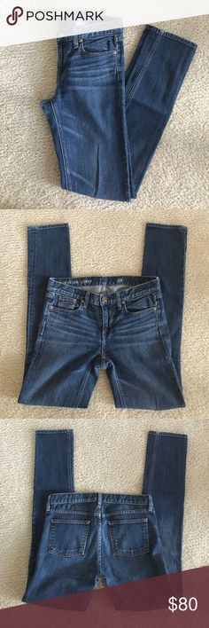 J. Crew Downtown Skinny Jeans J. Crew Downtown Skinny Jeans, Size 26. These are the comfiest jeans and this wash goes with everything- not too dark, not too light! They are too big for me which is why I am selling. J. Crew Jeans Skinny
