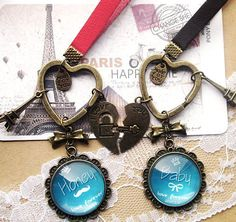 Engrave your love vintage key chian/mobile chian 1 made by order with your choice: Name/Birthday/Photo/Client choose picture sur Etsy, 16,36€