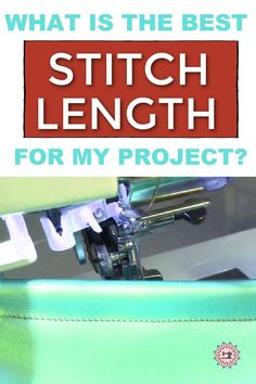 Don't know how to change your sewing machine's stitch length? This guide is for your beginner sewing projects. Find out the different stitch lengths and what they're best suited for, from quilting to simple hemming a dress. A true beginner might be intimidated by all of these numbers but it just takes a little understanding about stitches and fabric types. I always recommend practicing beforehand - no one wants their beautiful project ruined because of an improperly adjusted stitch length. Sewing For Beginners Diy, Sewing For Dummies, Sewing Basics, Different Stitches, Different Fabrics, Easy Sewing Patterns, Sewing Tutorials, Sewing Machine Stitches, Patron Couture Facile