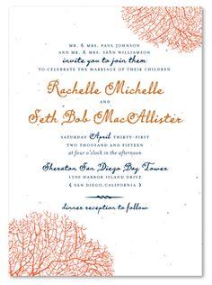 Destination Wedding Invitation Coral Reef Beach Invite Casual Blue SAMPLE
