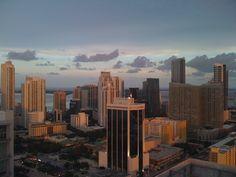 Brickell sunset, Miami, FL