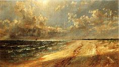 'Seascape', Oil On Canvas by Jasper Francis Cropsey (1823-1900, United States)