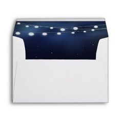 NAVY  string of lights Envelope - wedding party gifts equipment accessories ideas