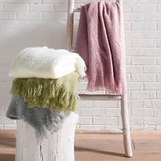 What throws us is,  real fabulousness be called faux? We feel the name Faux Mohair Throw should incorporate more respect. Because the    gorgeousness of our accent throw is a big deal. The perfectly friendly stand-in for genuine (and costly) mohair, this 100% acrylic throw has the    light-catching aura of a fluffy raised nap. Whisper-light, it has us purring  magic over the warmth and comfort. Gorgeous dreamy coloring    reels us in; pretty fringed ends finish the look. Folded over a cha...