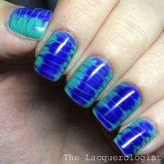 The Lacquerologist: Dry Marble with OPI GelColor Nordic Shades