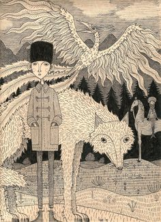 """A very famous Russian Fairytale, one of my absolute favorites. """"Prince Ivan"""" S.R. Harrell 2014. #illustration #Russian Fairytale"""