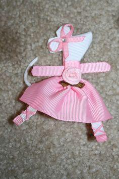 Angelina Ballerina - Custom Boutique Character Hair Bow Clip. $4.00, via Etsy.