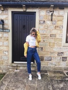 How to Style the Coloured Denim Jacket | https://stylewithblondeambition.co.uk/2018/05/19/how-to-style-the-coloured-denim-jacket/   #ShopStyle #shopthelook #MyShopStyle #WeekendLook #OOTD
