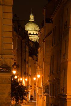 "The Dome of the Pantheon over ""Rue de Bievres"""
