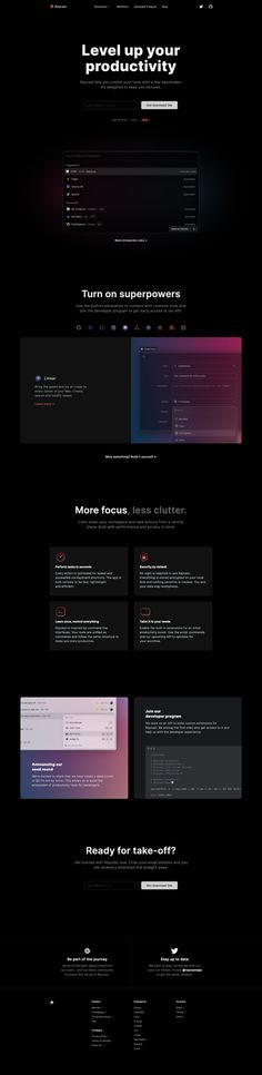 Raycast landing page design inspiration - Lapa Ninja Web Layout, Layout Design, Landing Page Design, Inspire Others, Art Director, Cool Websites, How To Introduce Yourself, Typography, Design Inspiration