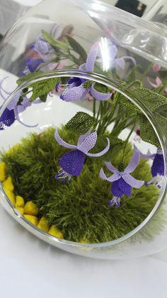 Crochet Bouquet, Terrarium, Table Decorations, Home Decor, Bottles, Terrariums, Decoration Home, Room Decor, Home Interior Design