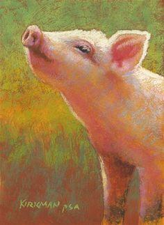 """Little Pink"" - Original Fine Art for Sale - © Rita Kirkman"