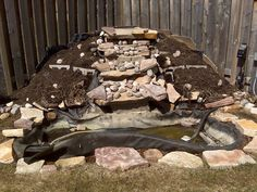 Diy filter in waterfall google search pond and water for How to build a koi pond step by step