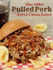 Add fall flavor to your pork with this recipe for Apple Cider Pulled Pork. The slow cooker pulled pork itself is delicious, but the apple cider sauce really makes it a great dish.
