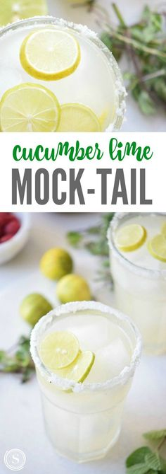 Cucumber Lime Mock-Tail Recipe! Kid-friendly drink recipe for summertime!