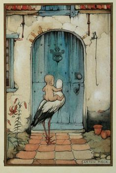 Anton Pieck... Delivery of the baby..