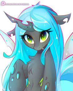 Cute Chryssy by Koveliana on DeviantArt Mlp My Little Pony, My Little Pony Friendship, Queen Chrysalis, Cute Fantasy Creatures, Little Poni, My Little Pony Characters, Mlp Fan Art, Imagenes My Little Pony, My Little Pony Pictures