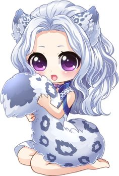 Commission for of her character Suki. Thanks for commissioning me! Do not trace, heavy reference, steal, copy, or recolor my art. Art(c):Miiddori It's so fluffy! Dibujos Anime Chibi, Cute Anime Chibi, Kawaii Chibi, Kawaii Anime Girl, Kawaii Art, Chibi Girl Drawings, Cute Kawaii Drawings, Cute Animal Drawings, Chibi Drawing