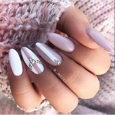 Nageldesign - Nail Art - Nagellack - Nail Polish - Nailart - Nails Gorgeous pink and white nails - # Gorgeous Nails, Pretty Nails, Nail Manicure, Nail Polish, Nails Today, Super Nails, Nagel Gel, Holiday Nails, Stiletto Nails