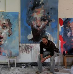 Ryan Hewett (b.1979, South Africa) Contrary to the tradition of verisimilitude, for Hewett the portrait is not about capturing an external likeness of a subject, but rather as a portrait to an inner...