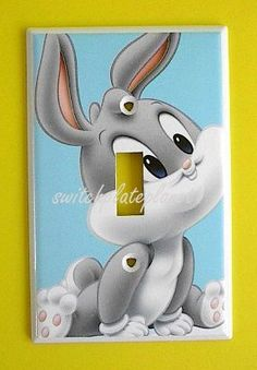 BABY Looney Tunes Bugs Bunny Single Switch Plate switchplate . $9.49