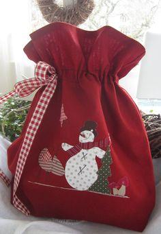 Pequeñas Bolsas y bolsas - Navidad / bolsa / organizador / bolsa para el llenado - una pieza de diseño de Feinerlei en DaWanda