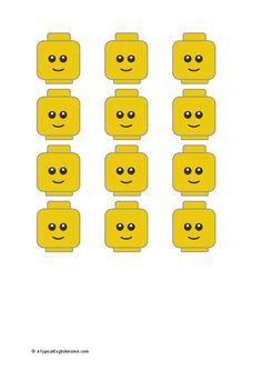 Lego head printable