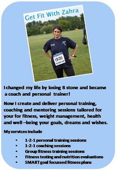 Get Fit With Zahra - what I do!