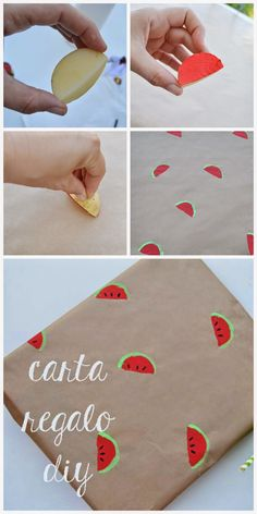 diy watermelon stamps