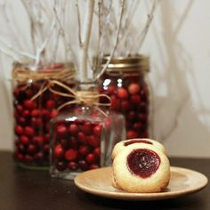 raspberry thumbprint cookies are a gorgeous, festive addition to your holiday cookie collection!