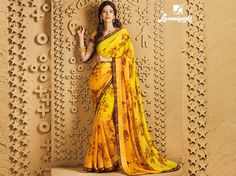 #Laxmipati presents yellow shaded georgette saree with this beautiful yellow satin silk - digital print blouse @ 1908.00 #Catalogues #SANGEET Price - Rs. 1908.00 Visit for more designs@ www.laxmipati.com #GaneshChaturthi #Ganesh #monsoon #Shopping #Shoppingday #ShoppingOnline #fashionstyle #ReadyToWear #OccasionWear #Ethnicwear #FestivalSarees #Fashion #Fashionista #Couture #SANGEET0816 #LaxmipatiSaree #autumn #winter #women #her #she #mystery #lingerie #black #lifestyle #life… Laxmipati Sarees, Georgette Sarees, Printed Sarees, Printed Blouse, Shades Of Yellow, Occasion Wear, Daily Wear, Silk Satin, Bridal Collection