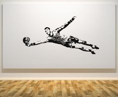 Goalkeeper Football Decal Wall Decals Picture Removable Wall Stickers Home Decor Living Room Waterproof Soccer Star poster Removable Wall Stickers, Vinyl Wall Stickers, Wall Decals, Wall Stickers Home Decor, Wall Art Decor, Soccer Bedroom, Goalkeeper, Photos, Etsy