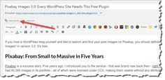 Pixabay Images 3.0: Every WordPress Site Needs This Free Plugin  Design Noupe