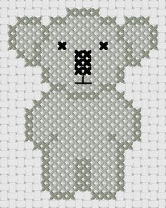 Koala by Naughts Cross Stitches - links to the etsy shop.