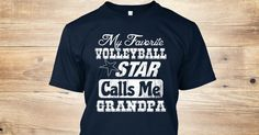 Discover My Favorite Volleyball Star Calls Me ... T-Shirt, a custom product made just for you by Teespring. With world-class production and customer support, your satisfaction is guaranteed. - 100% printed in the U.S.A - Ship Worldwide *How...