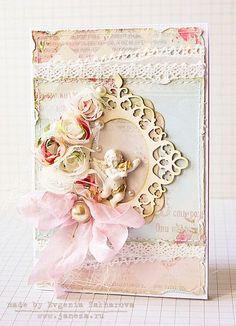 shabby chic card handmade