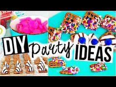 DIY PARTY IDEAS ♡ Snacks, Drinks & More! - YouTube