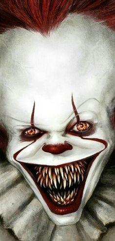 The new Pennywise. Arte Horror, Horror Art, Horror Movies, Le Clown, Creepy Clown, History Of Clowns, Evil Jester, Creepy Photos, Clown Photos