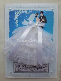 """Купить открытка""""Вечная любовь"""" - разноцветный, открытки ручной работы, свадебный подарок, свадебная открытка"""