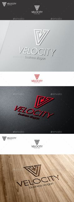 VELOCITY – V Letter Logo Template – - is an abstract arrow symbol and logo letter V at the same time. Great logo template suitable for companies whose name starts with the letter V.  – Is a multipurpose logo. Can be used in different categories such as automotive business, auto sport, logistics and transport, post, distribute, software, file management, construction companies, servers and databases, among other uses.