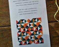 RETRO Wedding Menu, personalised, printable, downloadable, by AnnaVictoriaDesigns